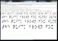 Braille Font True Type Windows
