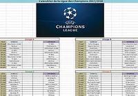 Calendrier Ligue des Champions 2017