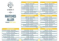 Calendrier officiel Ligue 1 2015/2016