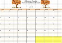 Calendrier Familial 2013-2014